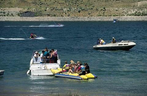 Jordanelle Lake Near Homestead Resort in Heber, Utah.