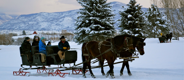 Sleigh Rides At Homestead Resort in Midway, Utah.