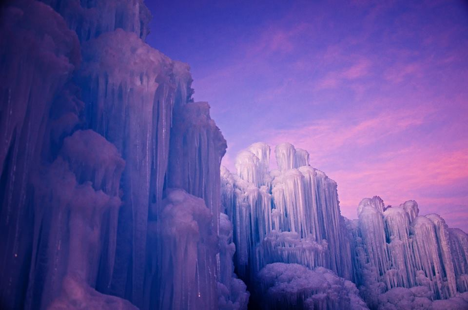 Beautiful Ice Castle At Homestead Resort in Utah.