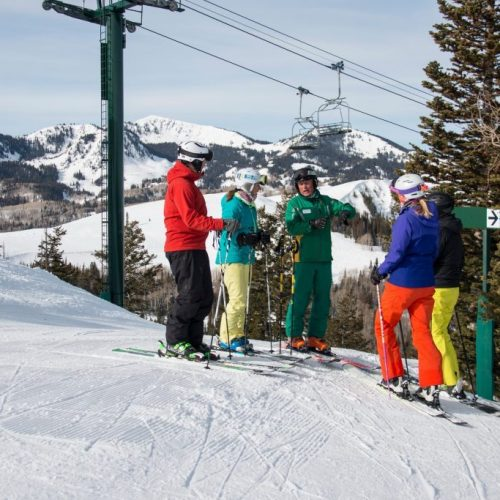 Deer valley skiers