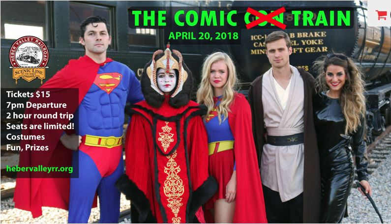 The Comic Train with Heber Valley Railroad, April 20 , 2018