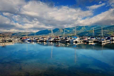 Boats Docked at The Jordanelle near The Homestead Resort in Midway Utah