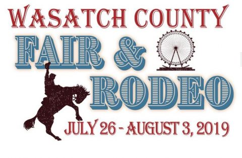 Logo for the Wasatch County Fair & Rodeo taking place near our Utah resort